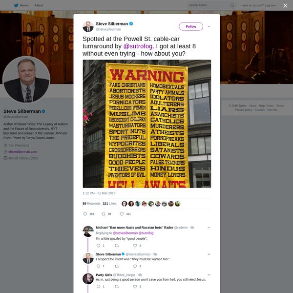 Steve Silberman on Twitter