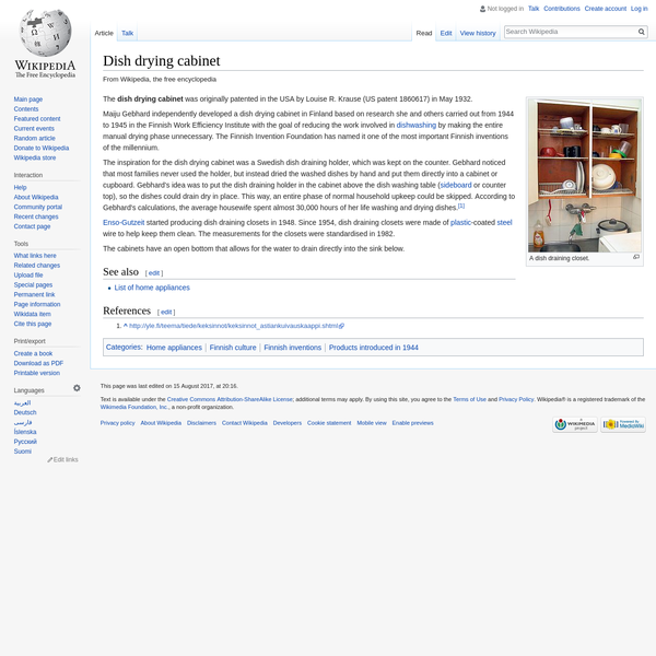 Dish drying cabinet - Wikipedia