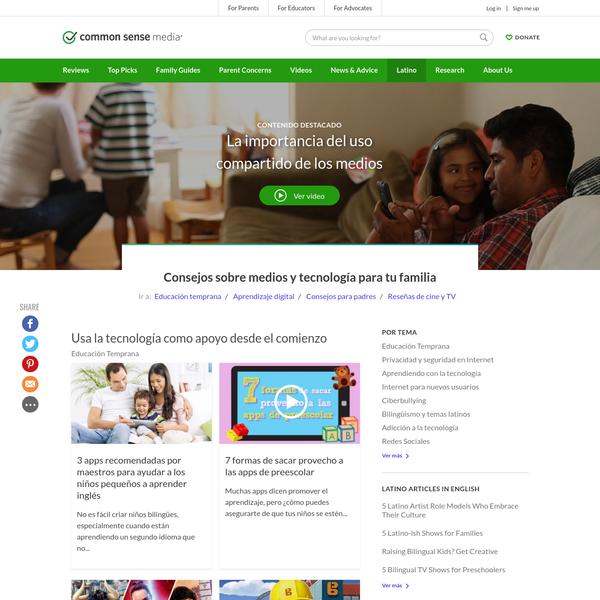 Consejos sobre medios y tecnología para tu familia | Common Sense Media