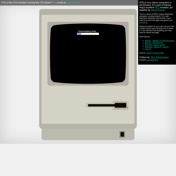 James Friend | PCE.js - Classic Mac OS in the Browser