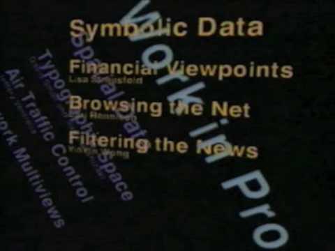 Information Landscapes. Visible Language Workshop. (c) MIT Media Lab. July 1994.