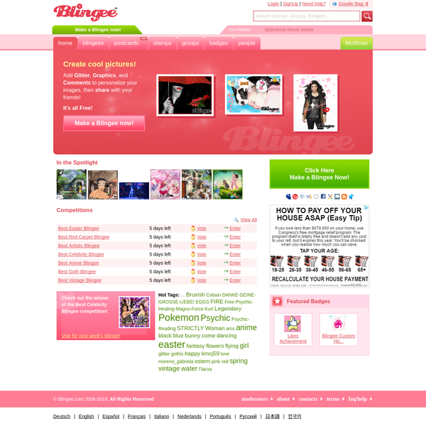 Blingee.com | A Creative Community for Fans, Photos and Fun