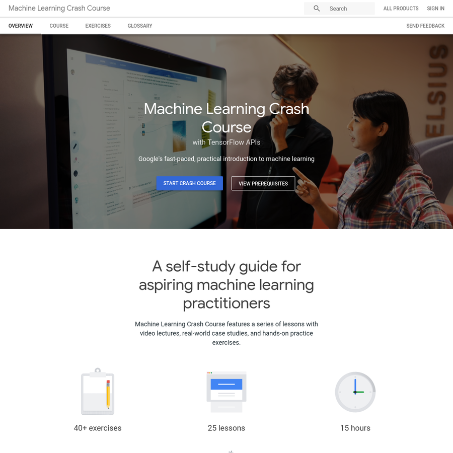 Educational resources for machine learning