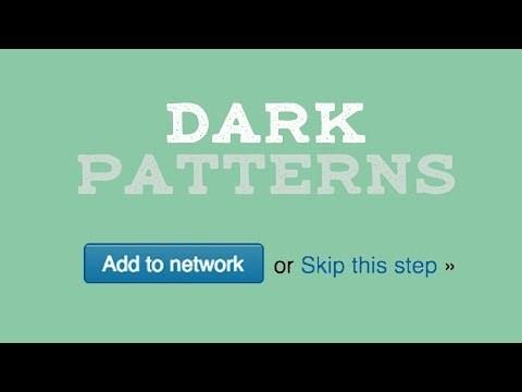 Start protecting your internet experience today with 77% off a 3 year plan by using code 'NERDWRITER' at http://www.NordVPN.com/NERDWRITER Support Nerdwriter videos: https://patreon.com/nerdwriter | Subscribe: http://bit.ly/SubNerdwriter Watch the most popular Nerdwriter episodes: https://youtube.com/watch?v=_aFo_BV-UzI&list=PLwg4AG1KkgLx18HrK7lCOjRXZFpmrdkvV&index=1 Facebook: https://facebook.com/The-Nerdwriter-314141501931192/ Twitter: https://twitter.com/TheeNerdwriter Patreon: https://patreon.com/nerdwriter SOURCES https://darkpatterns.org/types-of-dark-pattern https://medium.com/adventures-in-ux-design/dark-patterns-and-the-ethics-of-design-31853436176b https://www.fastcodesign.com/3060553/why-dark-patterns-wont-go-away https://www.usertesting.com/blog/2015/10/01/dark-patterns-the-sinister-side-of-ux/ https://uxpodcast.com/150-dark-patterns-harry-brignull/ http://preview.addconnectionssettlement.com/media/382686/second_order_on_mtd_in_linkedin.pdf https://medium.com/@danrschlosser/linkedin-dark-patterns-3ae726fe1462 Watch More Nerdwriter: