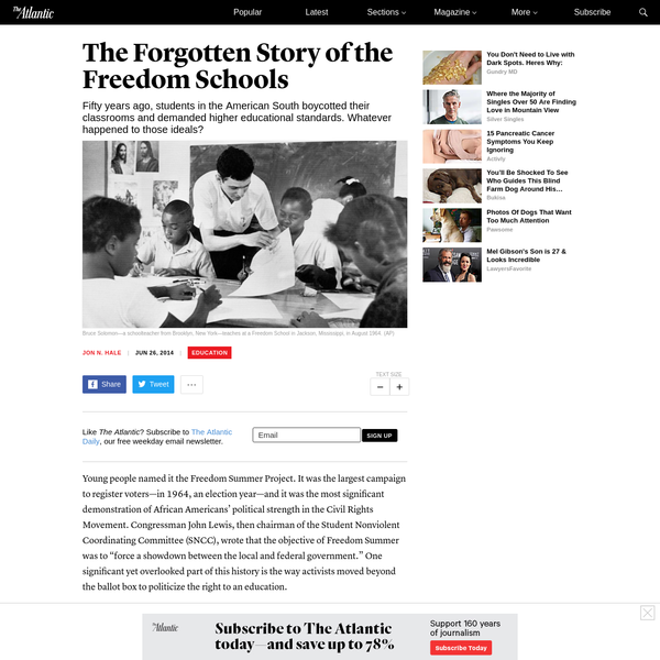 The Forgotten Story of the Freedom Schools