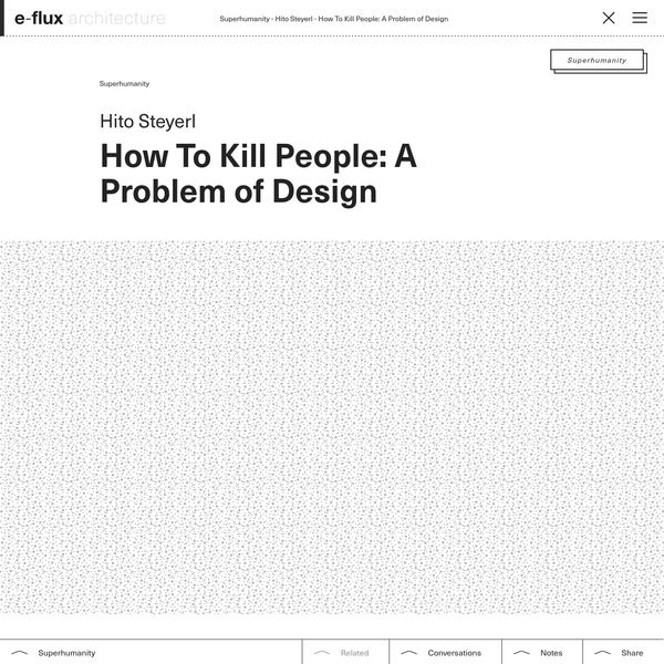 How To Kill People: A Problem of Design