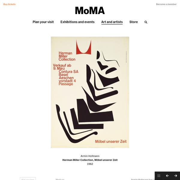 Armin Hofmann. Herman Miller Collection, Möbel unserer Zeit. 1962   MoMA