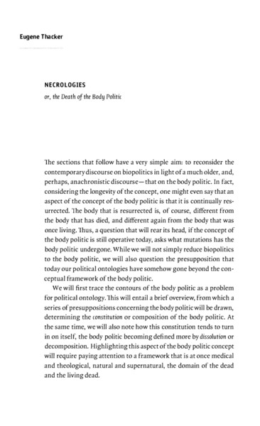Beyond Biopolitics: Essays on the Governance of Life and Death
