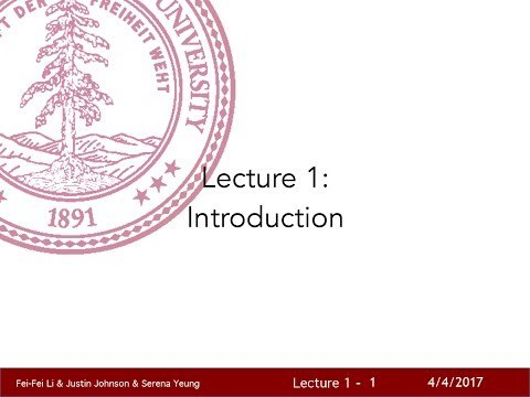 Lecture 1 gives an introduction to the field of computer vision, discussing its history and key challenges. We emphasize that computer vision encompasses a wide variety of different tasks, and that despite the recent successes of deep learning we are still a long way from realizing the goal of human-level visual intelligence.