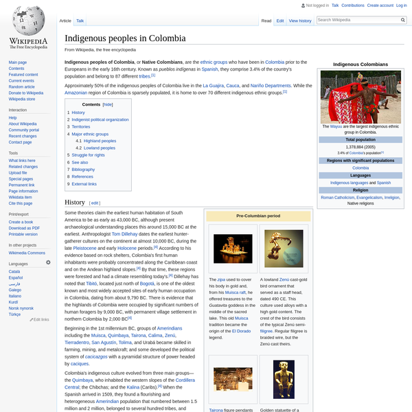 Indigenous peoples in Colombia - Wikipedia