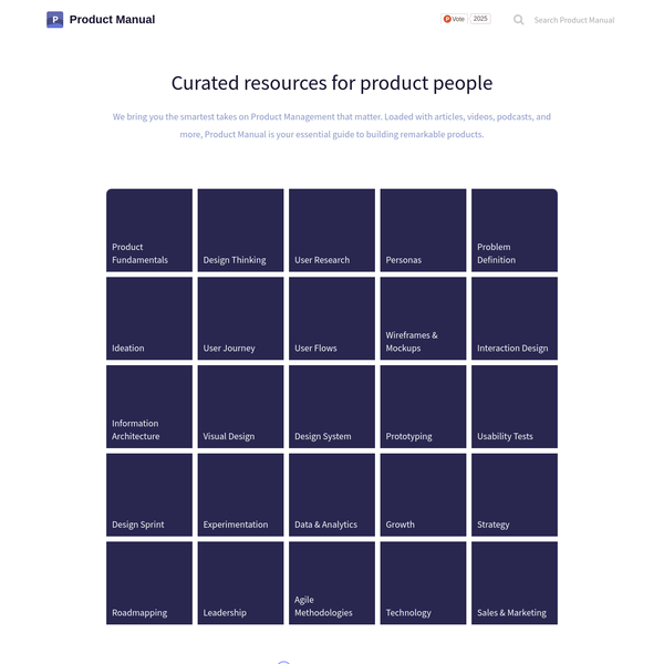 Loaded with articles, videos, podcasts, and more, Product Manual is your essential guide to building remarkable products.