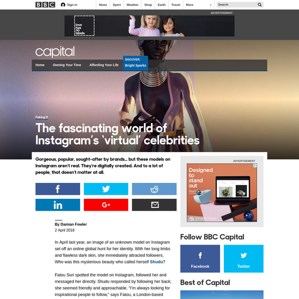 The fascinating world of Instagram's 'virtual' celebrities