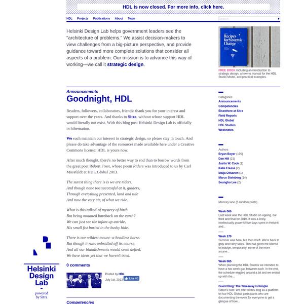 HDL Blog - Helsinki Design Lab