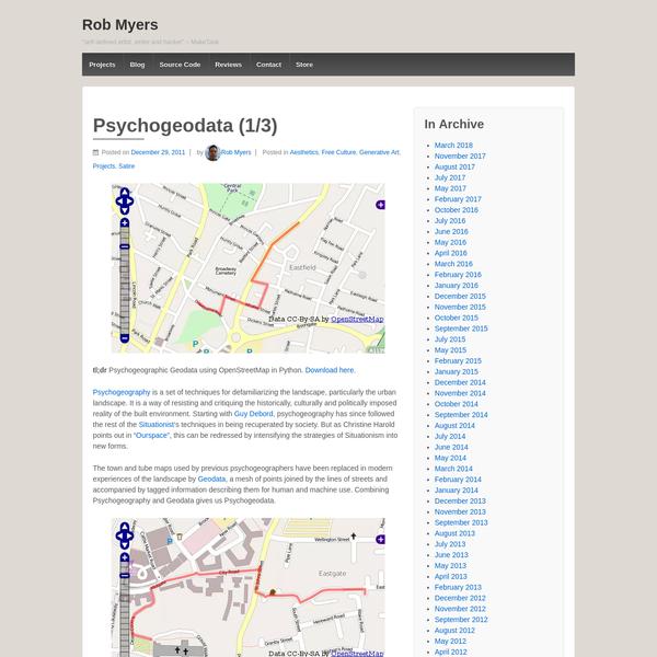 Psychogeodata (1/3)