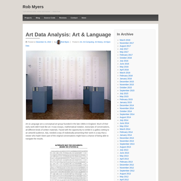 Art & Language are a conceptual art group founded in the late 1960s in England. Much of their early work didn't look like art. It was essays, mathematical notation, transcripts of convers...