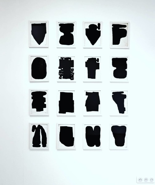 """Composition of 16 forms on paper: """"niente che tu possa capire"""" (nothing you can understand)."""