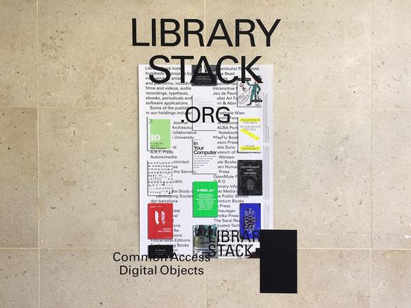 Bryce Wilner, *Library Stack poster*, 2017. Vinyl on inkjet print, poster: 24 × 36 in.; vinyl: 33 × 51 in.