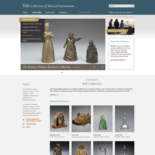 """Bell Collection """" Yale Collection of Musical Instruments"""