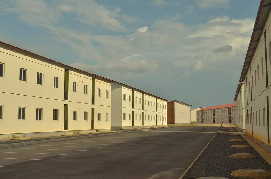 "#OMAresearch ""Phantom Urbanism"" - a new research project about empty cities by OMA / Reinier de Graaf & Harvard GSD. Pictured: Urbanização KM 44 near Luanda, Angola. #phantomurbanism #OMA #research #reinierdegraaf #harvardgsd"