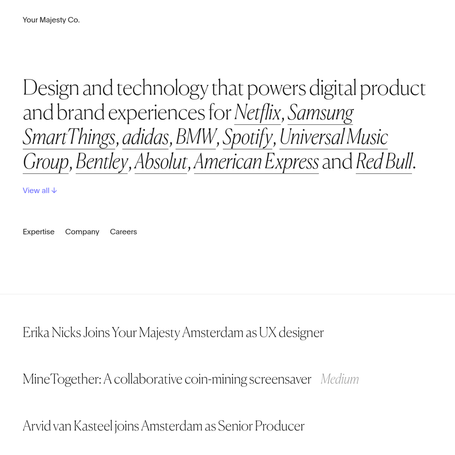 A design and technology firm in New York and Amsterdam