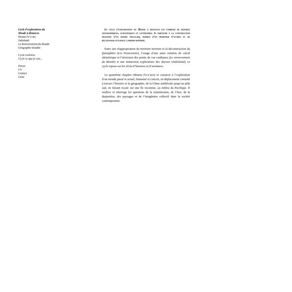 Aurélien Mauplot - Cycle explo