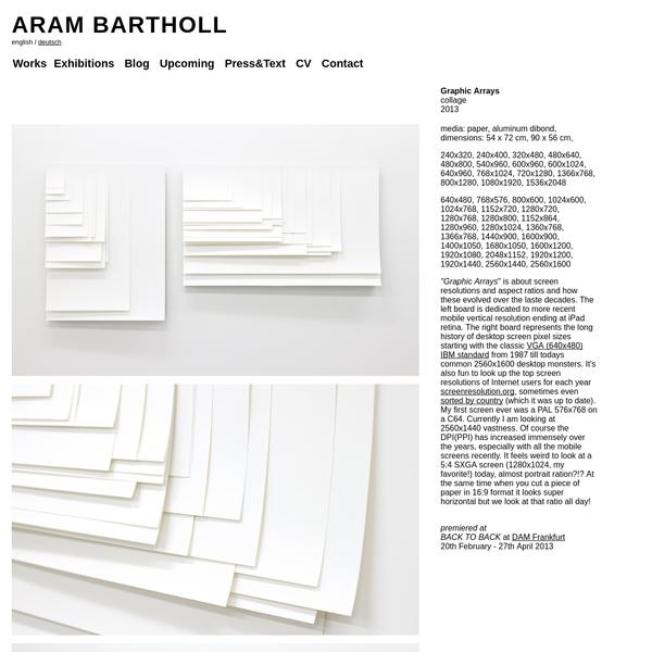 ARAM BARTHOLL, Official Page, Artist Portfolio