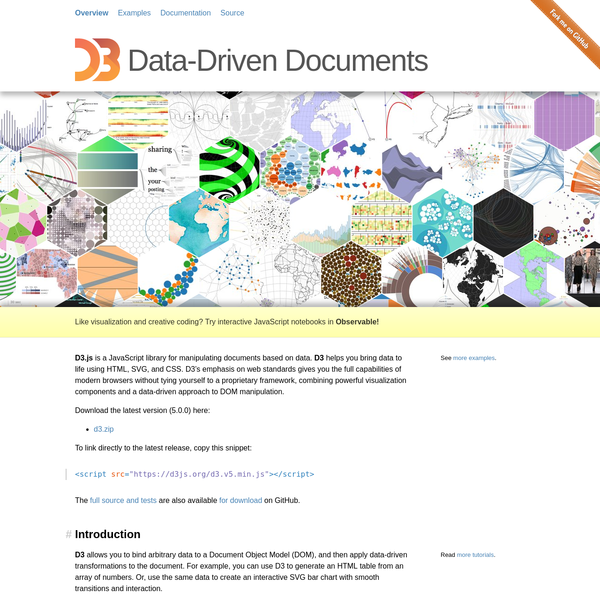 Are na / D3 js - Data-Driven Documents