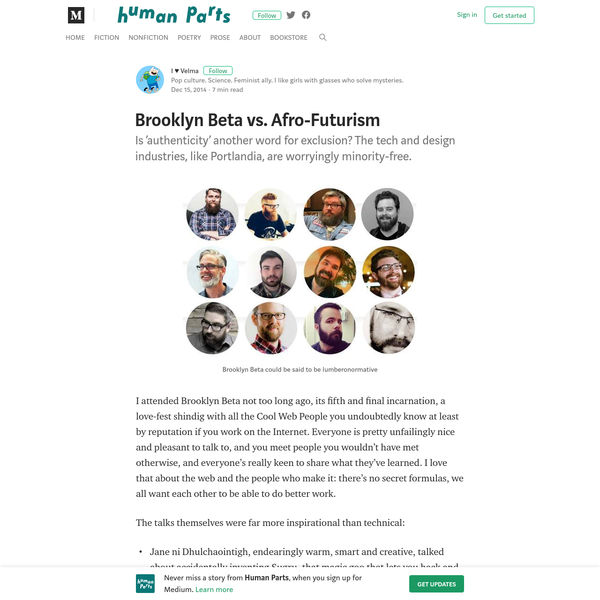 Brooklyn Beta vs. Afro-Futurism - Human Parts - Medium