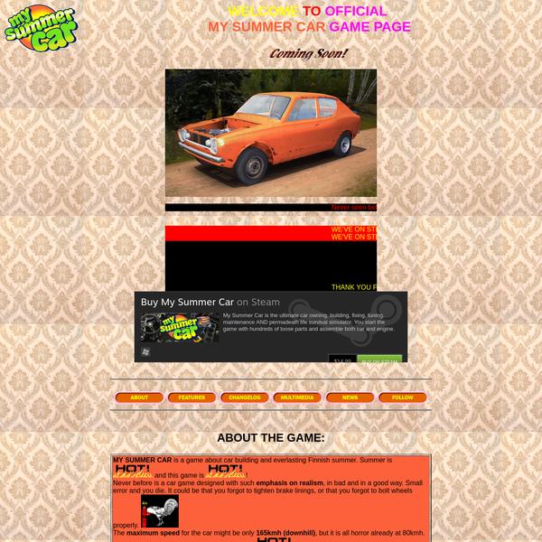 Ultimate car summer game!