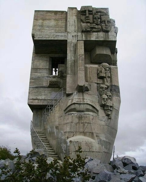 The Mask of Sorrow (monument to the victims of gulag) Magadan, Russian Federation