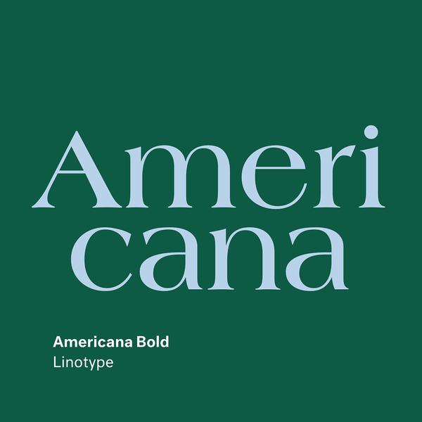 Americana by Richard Isbell (Linotype) . . . . . . . . . . #americana #linotype #type #typography #font #design #webf...