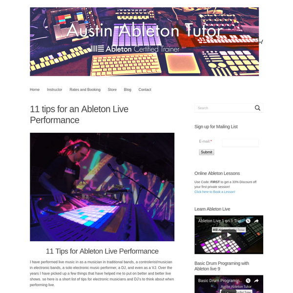 11 tips for an Ableton Live Performance