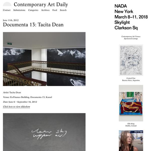 Documenta 13: Tacita Dean (Contemporary Art Daily)