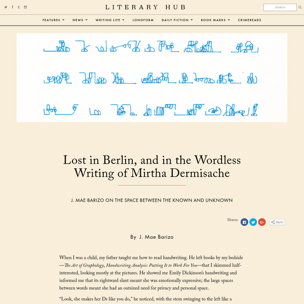 Lost in Berlin, and in the Wordless Writing of Mirtha Dermisache