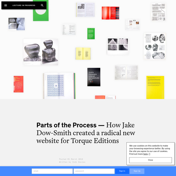 How Jake Dow-Smith created a radical new website for Torque Editions | Lecture In Progress