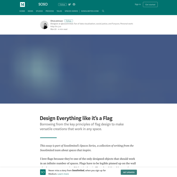 Design Everything like it's a Flag - Sosolimited - Medium