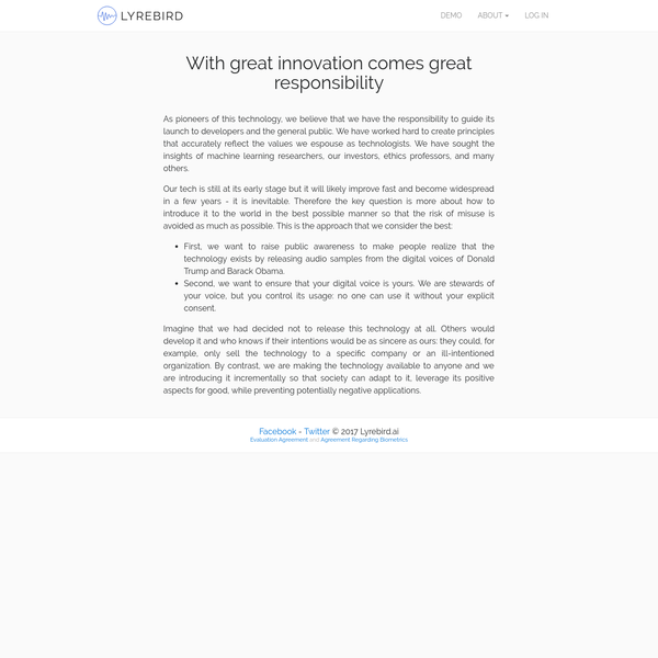 Blog - Privacy - Lyrebird