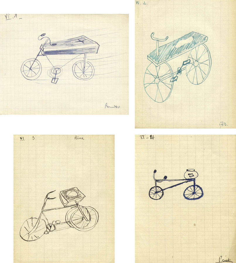 """Le Cercueil et Velo"" (The Coffin and the Bicycle), Jeu de Dessin Communique (Game of Communicated Drawing), 1938"