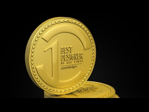 Photoshop Tutorial | How to make a 3d gold coin