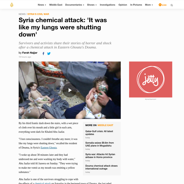 Syria chemical attack: 'It was like my lungs were shutting down'