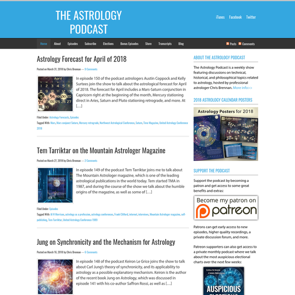 A weekly podcast featuring discussions on technical, historical, and philosophical topics related to astrology, hosted by professional astrologer Chris Brennan.