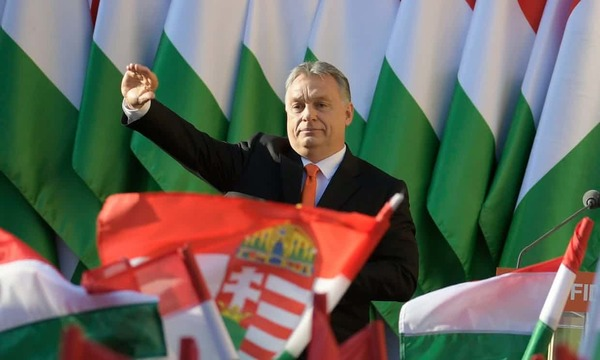 Hungary's right-wing prime minister Viktor Orbán is set to be returned for a third term. Photograph: Zsolt Szigetvary/EPA