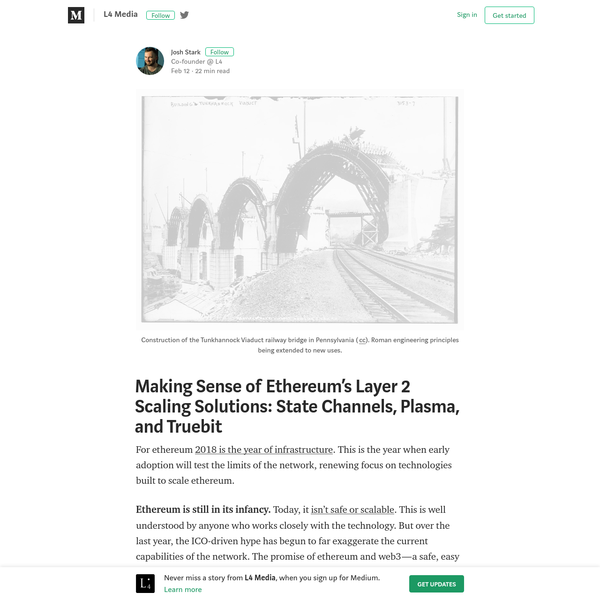 Making Sense of Ethereum's Layer 2 Scaling Solutions: State Channels, Plasma, and Truebit