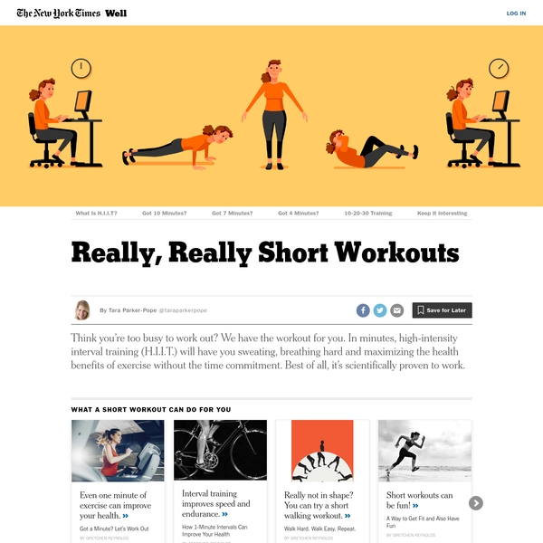 Really, Really Short Workouts