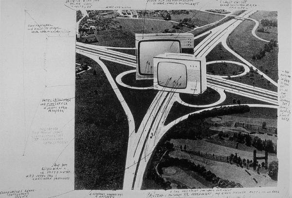 Plan for a Drive-In Museum, Wolf Vostell, 1970
