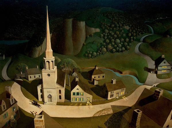 Grant Wood The Midnight Ride of Paul Revere 1931