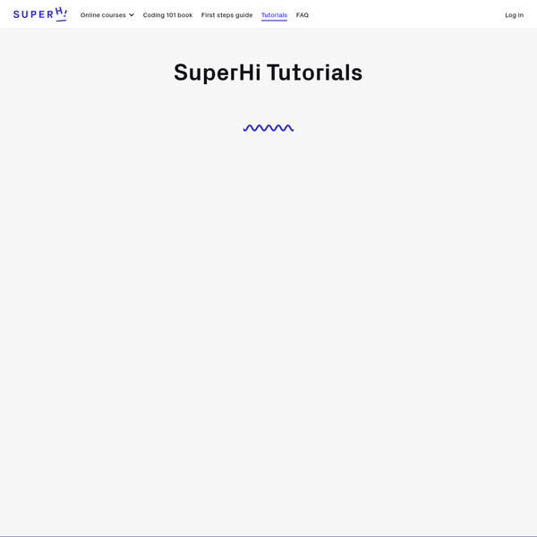 SuperHi Video Tutorials - Learn to code with bitesize tutorials of web design techniques