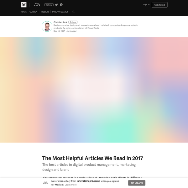 The Most Helpful Articles We Read in 2017 - Innovatemap Current - Medium