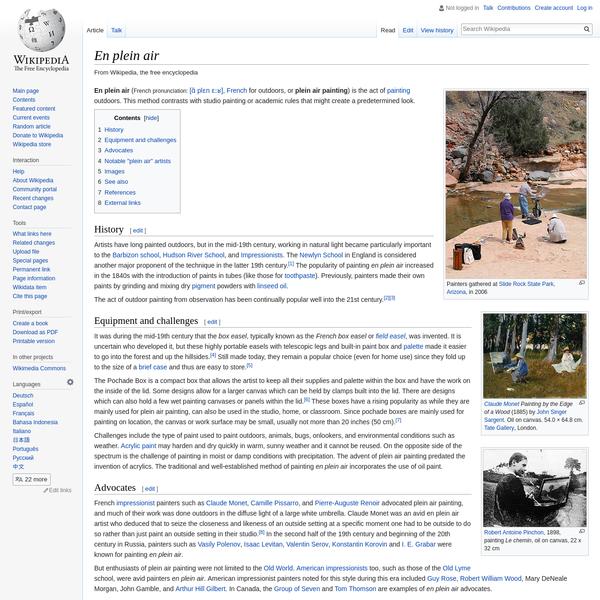 En plein air - Wikipedia