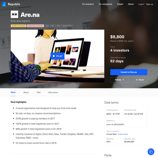 Are.na - a visual platform that helps you build ideas - is now accepting investments on Republic.